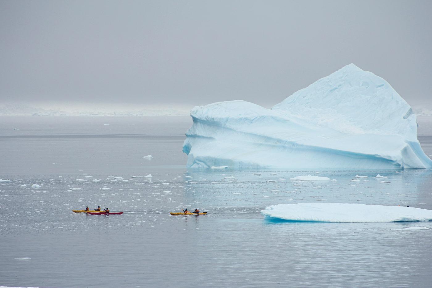Kayaking in Antartica