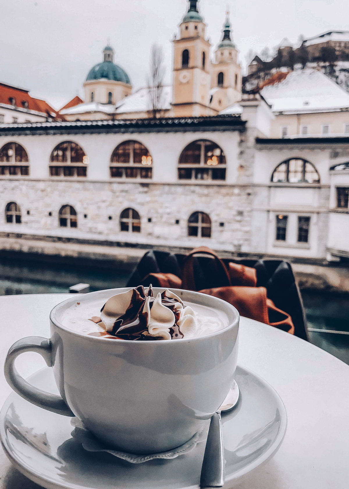 Hot chocolate in Ljubljana