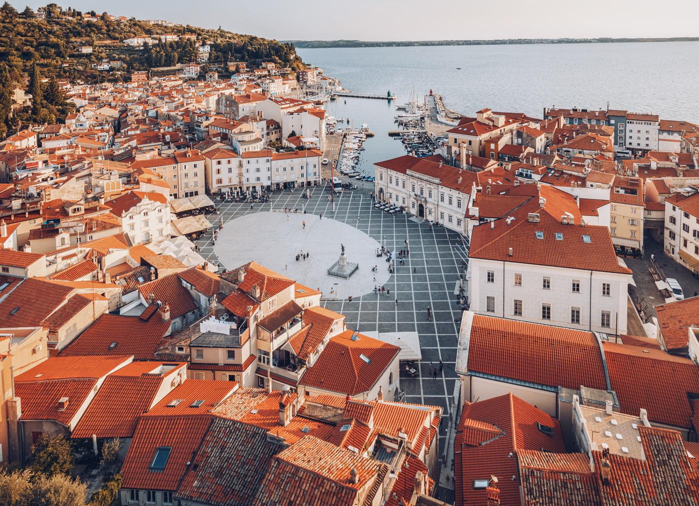Piran town in Slovenia