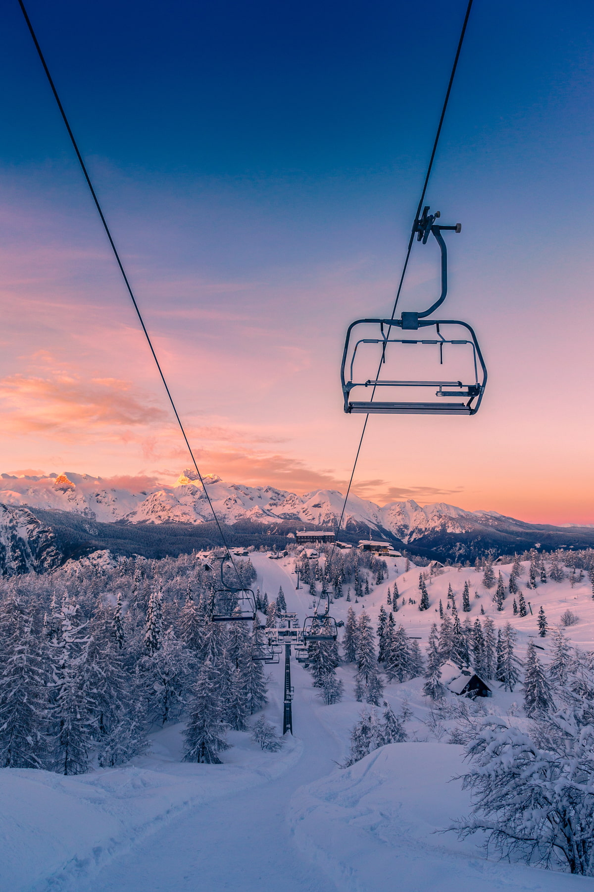 Vogel Ski Resort in the Julian Alps