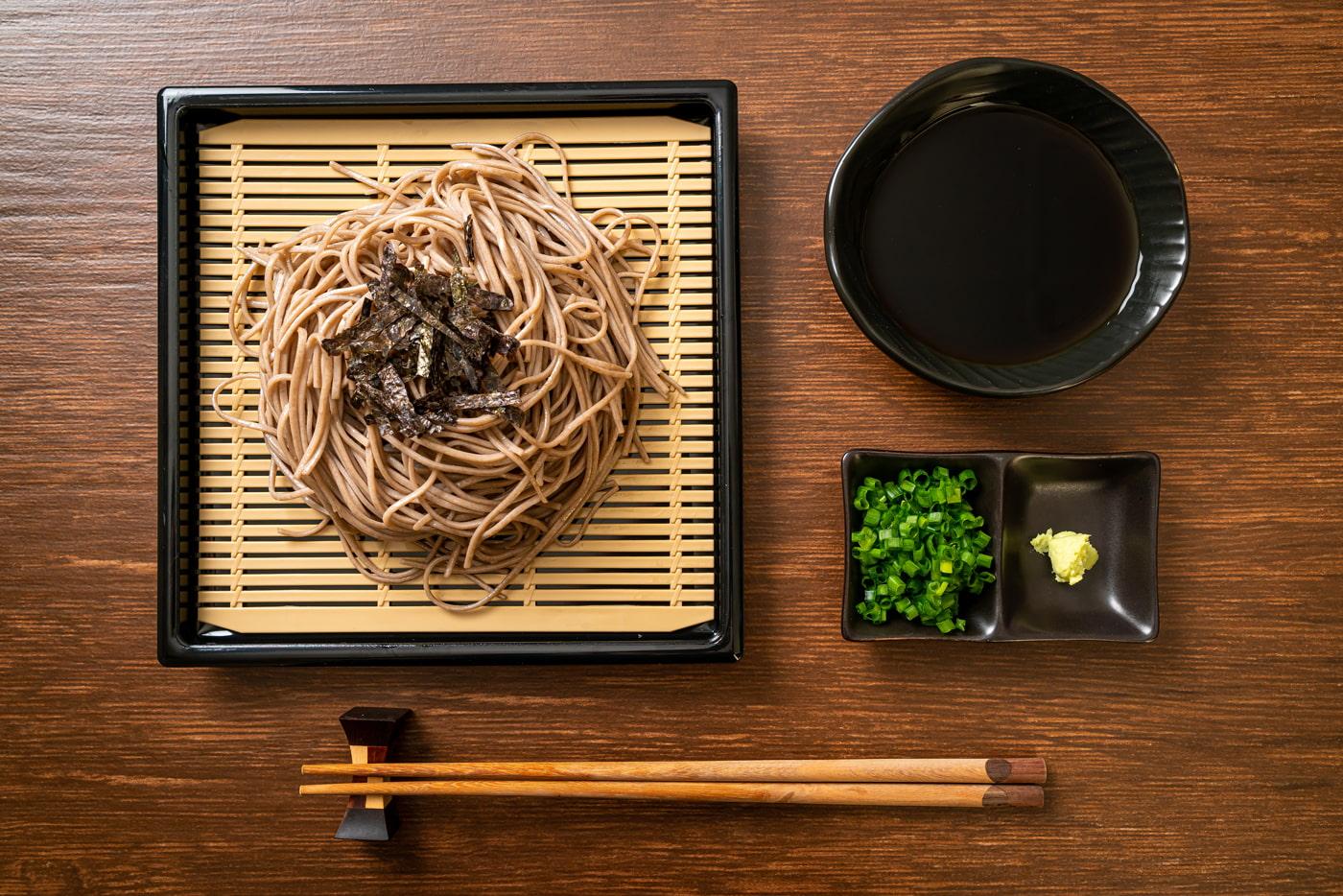 Mori Soba (Japanese buckwheat noodles)