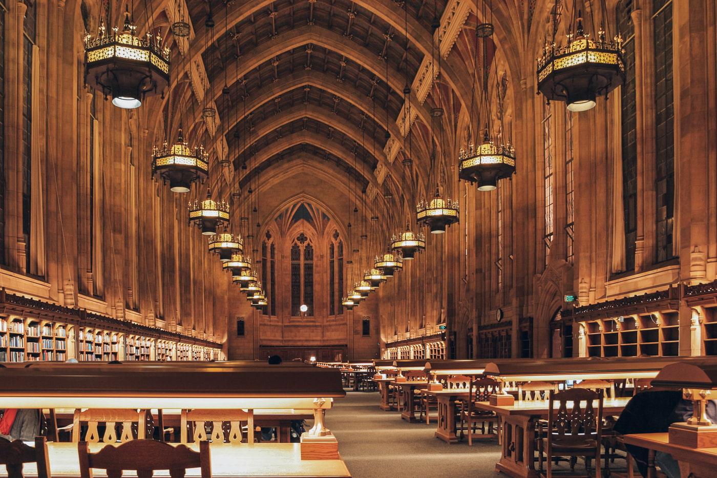 Inside Suzzallo Library