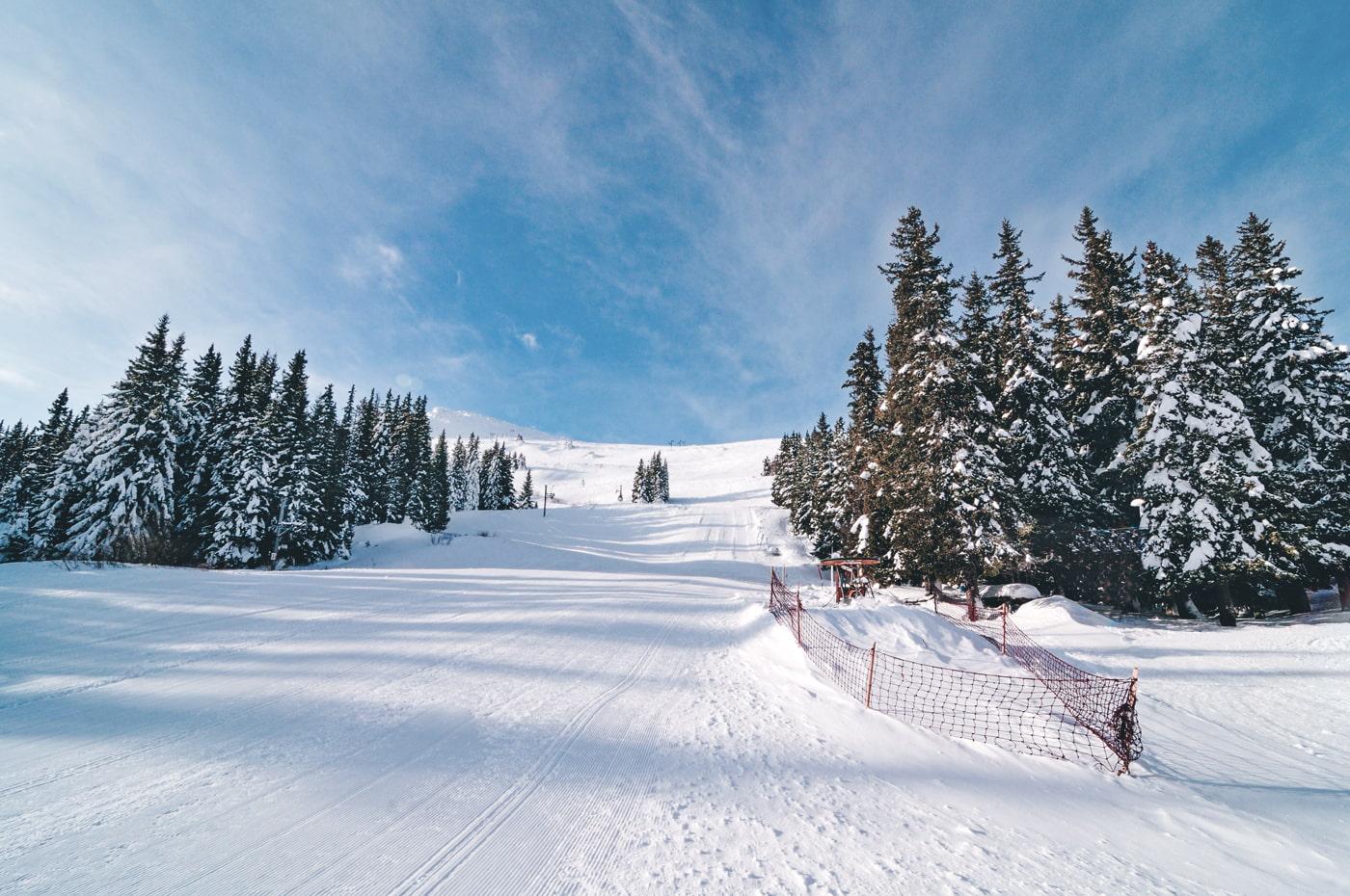 Ski zone in Vitosha