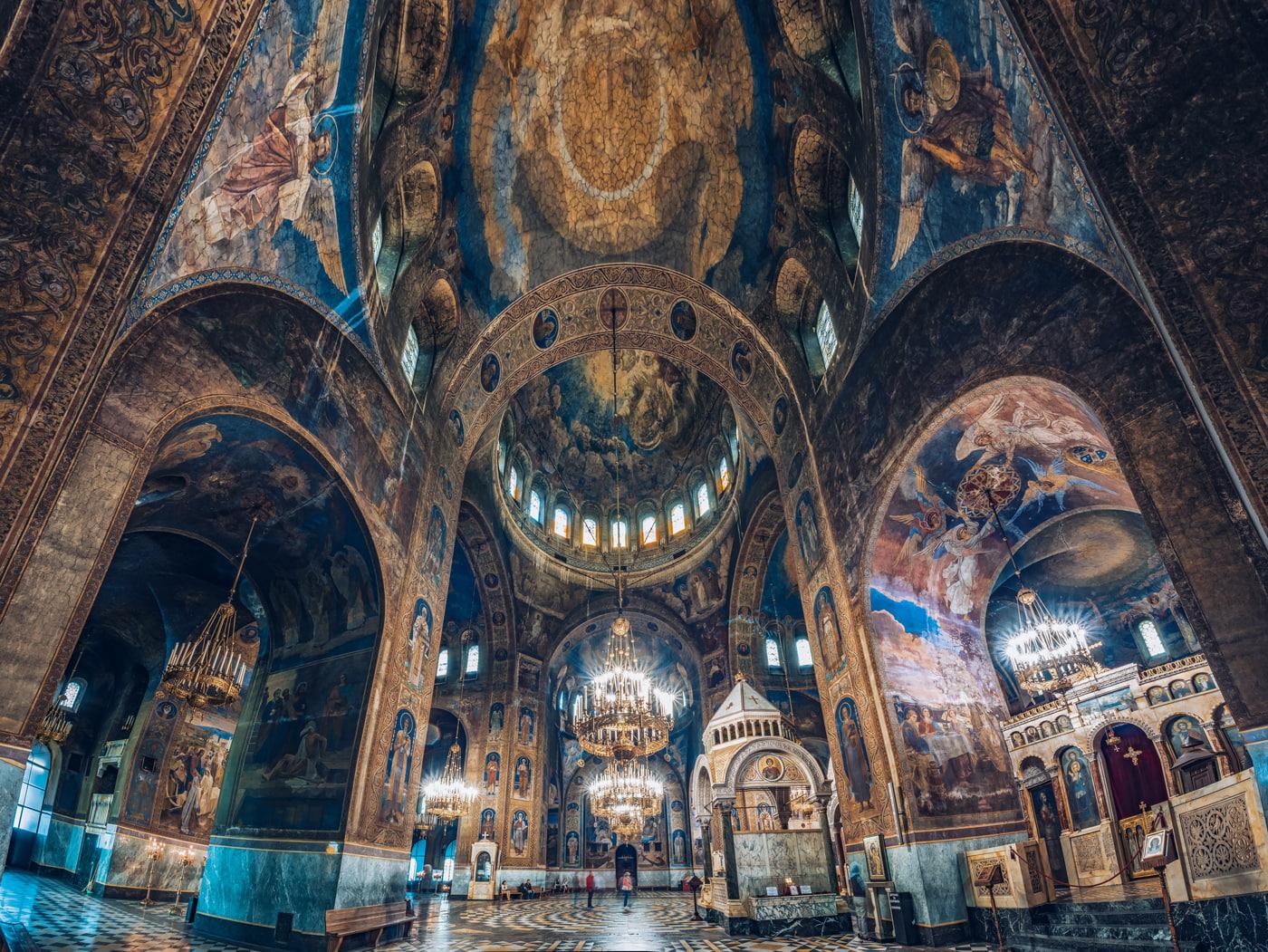 Inside Alexander Nevsky Cathedral