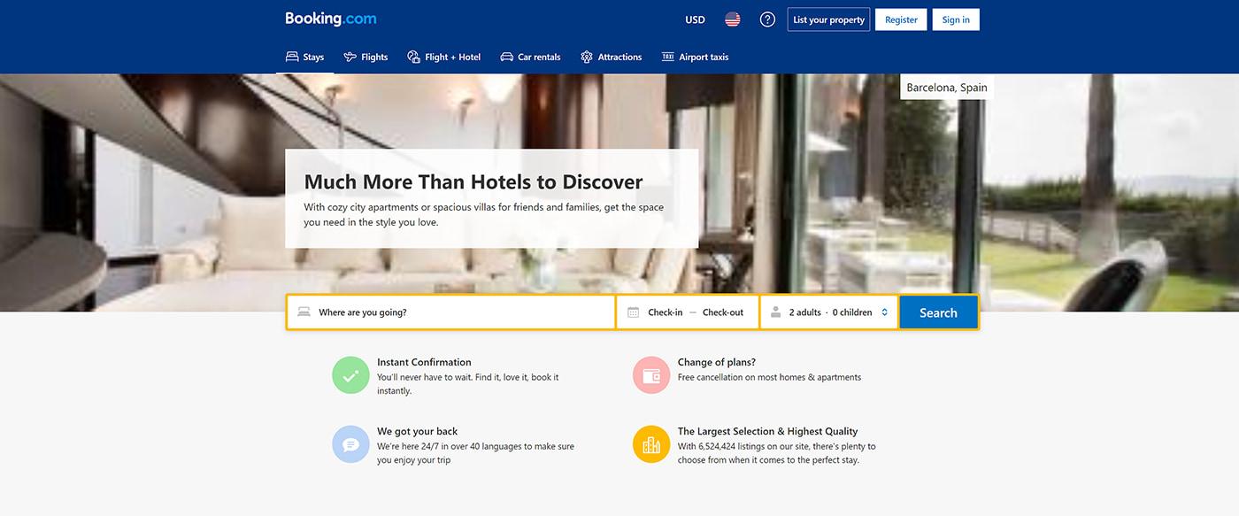 Booking website