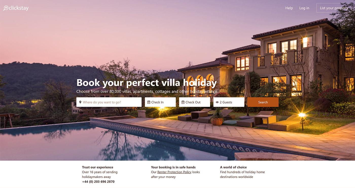 Holiday rental website