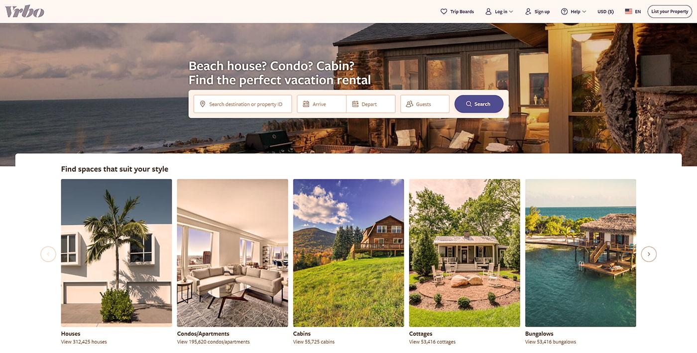 Best vacation rental site