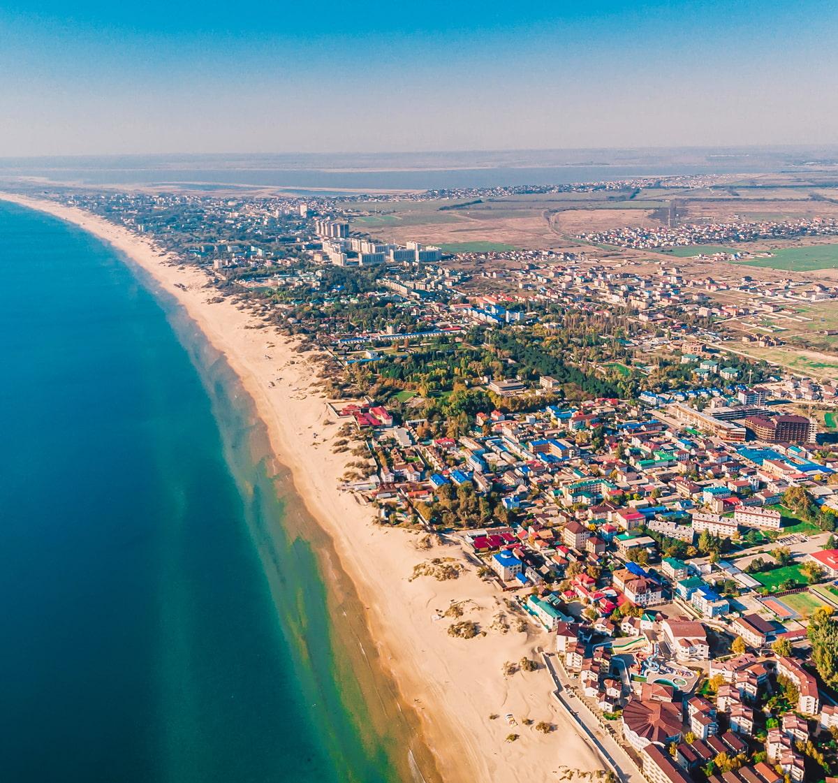 Beach town in Russia
