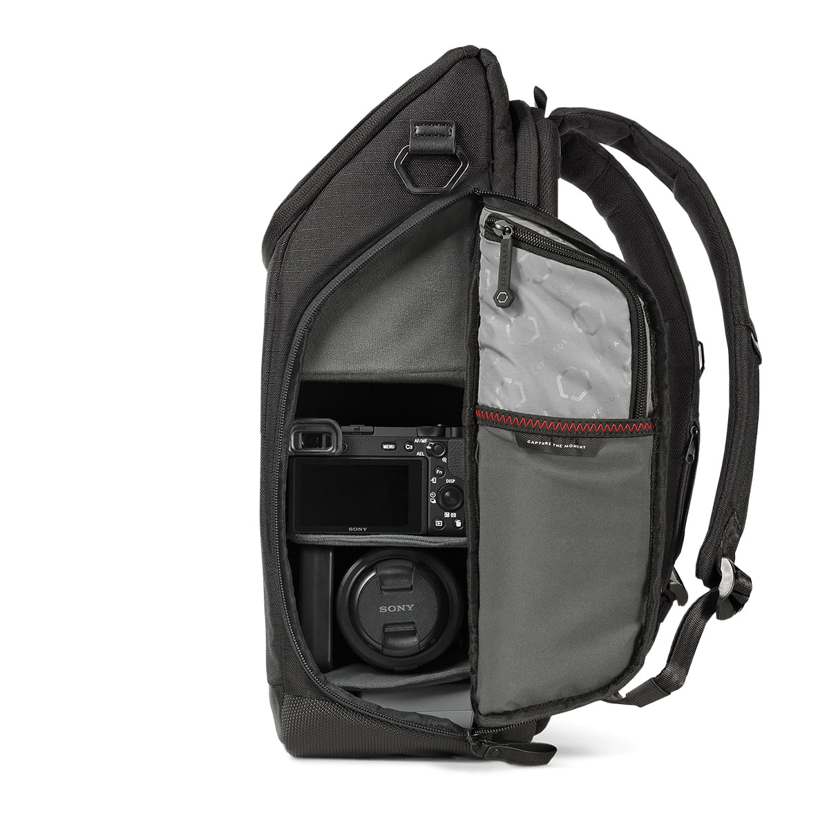 Light and compact camera backpack