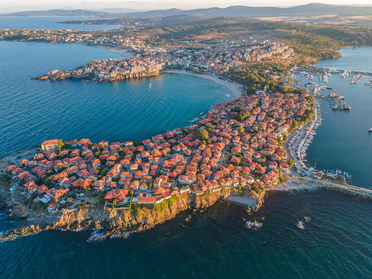 Beach town on the Black Sea