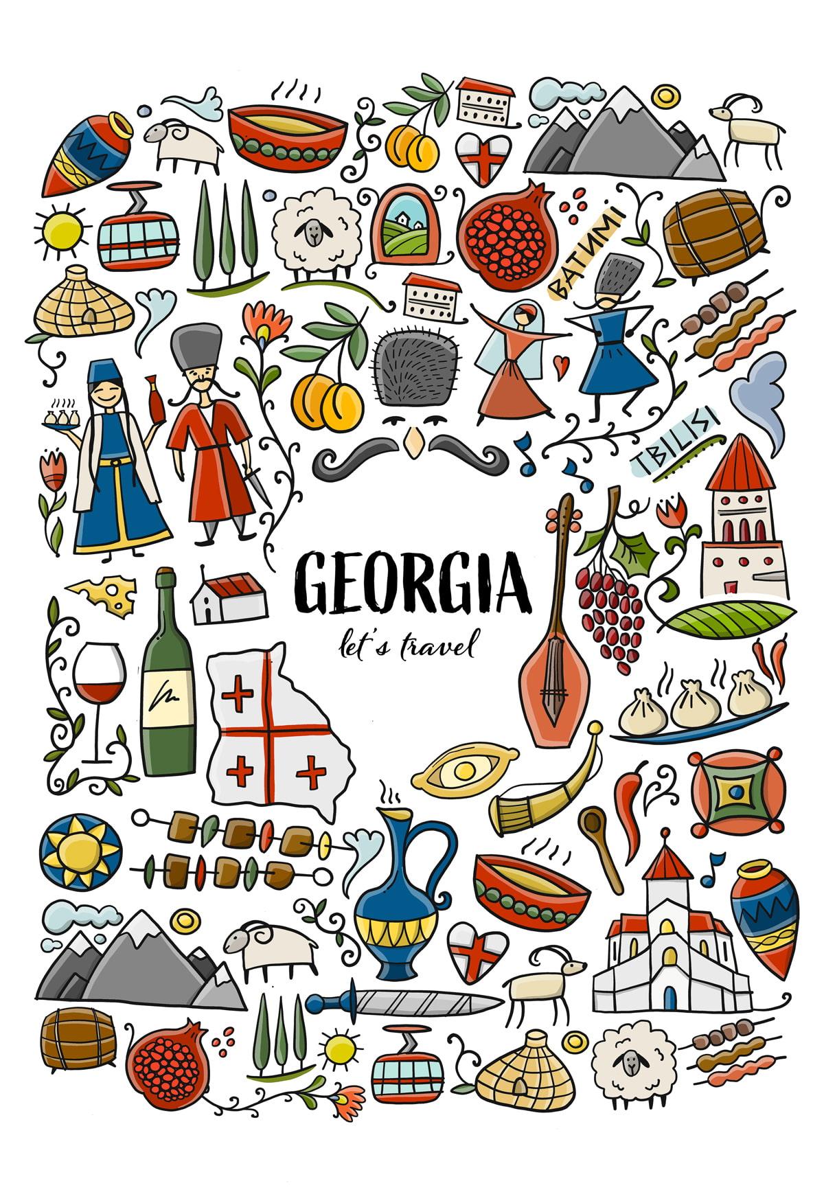 Georgia country illustration